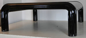 GAE AULENTI for Knoll Couchtisch Coffee-Table Tisch 70er Stahl schwarz