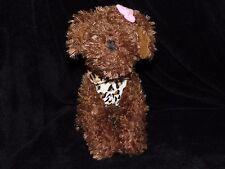 PRIMARK PUPPY DOG SOFT TOY COMFORTER BROWN LEOPARD SKIN COAT DOUDOU