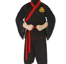 Classic Red Ninja Boy's Halloween Costume Top & Pants ONLY Child Medium #5543