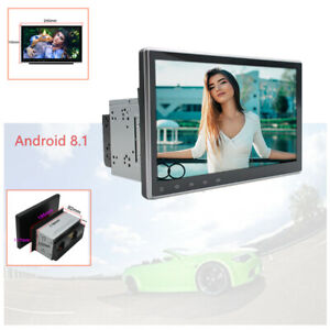 """2 Din Rotatable Android 8.1 10.1"""" 1080P GPS / BT / USB Touch Screen Universal"""
