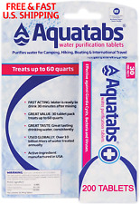 WATER PURIFYING Tablets Aquatabs Kills Water Germs Bacteria Virus 200 TABLETS