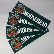 NEW VINTAGE 1995 MOOSEHEAD BEER CANADIAN LAGER BUMPER STICKER Lot of 4 Stickers!