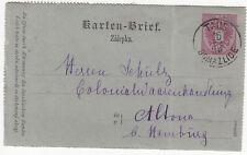 Austria: Postcard; Taus, Domazlice, to Hamburg, 3-5 December 1886