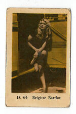 1960s Swedish Film Star Card Star D Set # 64 French Sex Symbol Brigitte Bardot