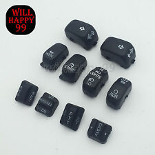 Black Radio Cruise Hand Control Switch Cap Buttons for Harley Touring 1996-2013