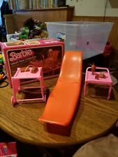 Complete Box Barbie Dream Furniture Collection Patio Recliner & Serving Cart1982