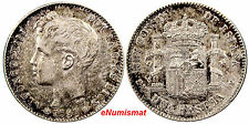 Spain Alfonso XIII SILVER 1901 (01) SM-V Peseta Light Toning Nice Coin KM# 706