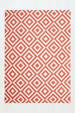 Urban Outfitters Inverted Diamond Rug - Red - 5x7ft/152 x 213cm - RRP £69 - New