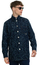RRP €520 VERSUS VERSACE Denim Shirt Size 50 / L Ripped Style Contrast Stitching