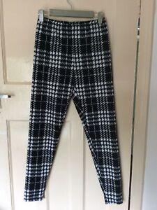 Shein Black & White Dogtooth Style Leggings Size S