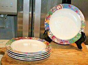 Majesticware By Sakura Stoneware - Sue Zipkin- Cuisine Salad Plates- 5 Plates