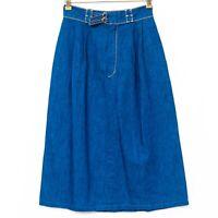 Jeanetics VTG Denim Skirt 9 Juniors Blue Jean Long Modest ALine Pockets USA
