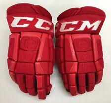"Ccm U+ Crazy Light Pro Stock Hockey Gloves 14"" Carolina Hurricanes 9608"