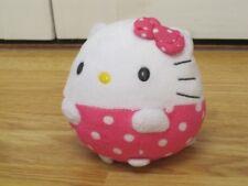 """HELLO KITTY TY BALLZ 4-5"""" ROUND SOFT PLUSH TOY BEANIE"""