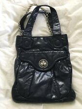 MARC by Marc Jacobs Navy Blue Patent Leather N/S Tote Bag Purse-MINT