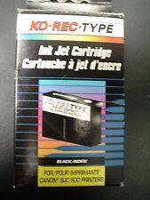 CN600-0 Ko Rec Type- Ink Jet Cartridge for BJC 600 Printers