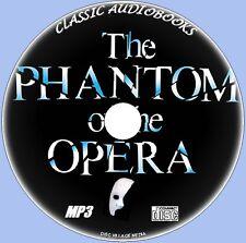 El fantasma de la ópera Gaston Leroux Clásico MP3 CD Terror Novedosa NUEVO