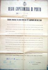 1935 LEVA DI MARE PORTO DI RAVENNA MARINAI MILITARI DELLA CLASSE 1917 MANIFESTO