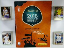 ROAD TO RUSSIA 2018 PANINI STICKERS COMPLET SET 480  STICKERS NO ALBUM NEW