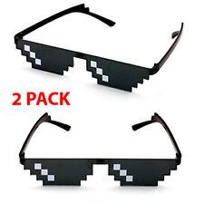 2 Pack Thug Life Sunglasses 8 Bit Pixel Deal With IT Glasses Sunglasses Digital