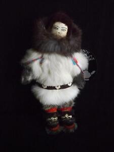 Native Alaska Doll Agnes Komakluk Signed