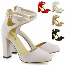 Faux Suede Upper Material Standard Width (D) Court Heels for Women
