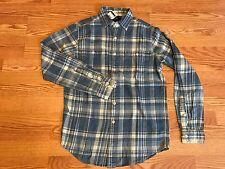 Polo Ralph Lauren denim blue jean chambray checker plaid work shirt S $165 rl