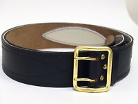 Original USSR Russian Army Officer Real Genuine Leather Black Belt (stitched!)