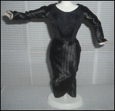 DRESS BARBIE DOLL CRUELLA DEVIL BLACK POWER IN PINSTRIPES EVENING DRESS ACCESORY
