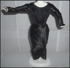 DRESS BARBIE MATTEL DOLL CRUELLA DEVIL BLACK POWER IN PINSTRIPES DRESS ACCESSORY