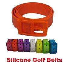 Silicone Colour Golf Unisex Ladies Gents Bright Belts