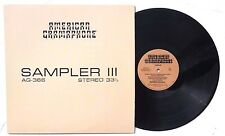 SAMPLER III LP AMERICAN GRAMOPHONE RECORDS US 1984 AG-366 NM