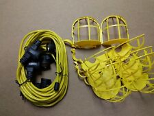50 ft. Industrial Heavy Duty Work Light Temporary Lighting String w/ Bulb Cages