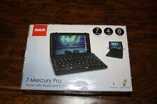 New Black RCA Mercury Pro RCT6673W-V1KC 8GB Wi-Fi 7in Bundled w Keyboard & Case