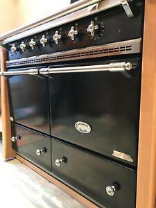 Lacanche Range Cooker Black & Steel, dual fuel