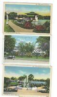 5 Orlando FL vintage postcards Lake Eola Lucerne Hotel Orange Ave Hospital