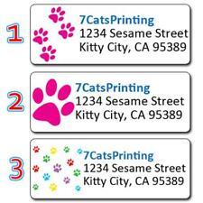 Paw Prints Personalized Address Labels Kitty Dog Cat