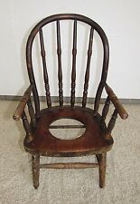 Antique Wood Childu0027s Potty Toilet Training Commode Chair
