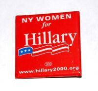2000 HILLARY CLINTON NY SENATE campaign pin pinback button political SENATORIAL