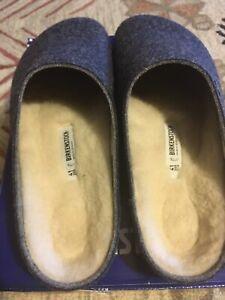 Birkenstock kaprun clog shoe Mule Sheepskin Wool W 10 M 9 41