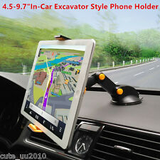"4.5-9.7"" Excavator Style Mobile Phone Ipad GPS 360° Rotation Mount Holder New"