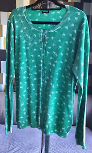 Gerry Weber Black Label Limited Edition Green Fine Knit Cardigan New Size 14