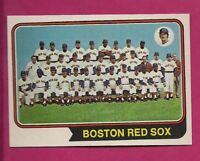 1974 TOPPS # 567 BOSTON RED SOX  TEAM PHOTO NRMT-MT CARD (INV# A4287)