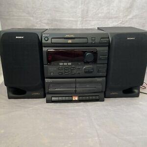 Vintage Sony Midi Hi-Fi system MHC-501 - Speakers, Aerial, LW/MW/FM, CD, Tapes