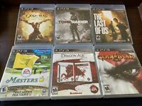 Lot Of 6 Sony Playstation 3 PS3 Games God Of War Last Of Us Tomb Raider Dragon