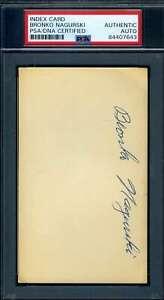 Bronko Nagurski PSA DNA Coa Autograph 3x5 Index Card Signed