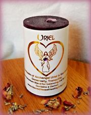 "Archangel Uriel Candle~Wisdom, Knowledge, Illumination~2x3""~Garnet~Tea Rose"