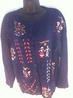 Beldoch Popper Women's Small Long Sleeve Embroidered Sweater