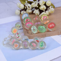 2/10Pcs Clear bouncy balls fruit mini rubber bouncing ball for children toy  BH