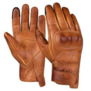 REDRUM Wax Leather Motorcycle Gloves Vintage Motorbike short racing Biker gloves